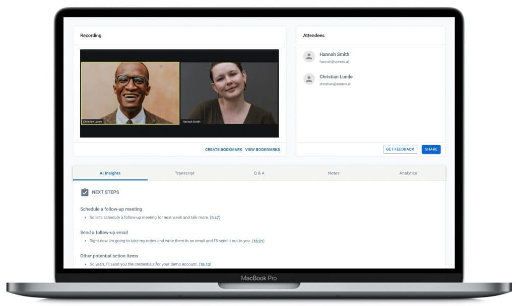 Sonero AI for Business
